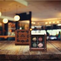 (60 gr) Ahşap Mini Kutu Trüf Çikolata
