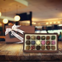 (270 gr)  Glories Ahşap Kutu Trüf Çikolata
