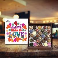 (450 gr)  Aşk Renkleri Trüf Çikolata